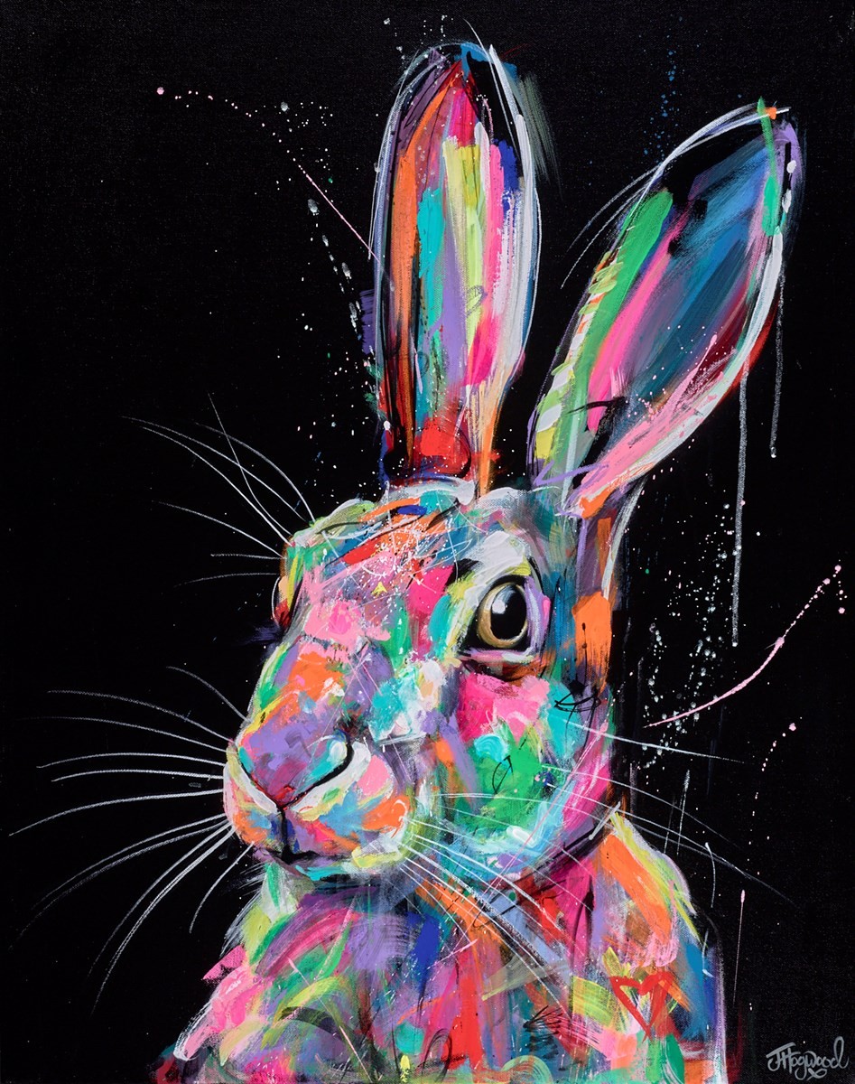 Bright and Beautiful Hare by jennifer hogwood -  sized 24x30 inches. Available from Whitewall Galleries